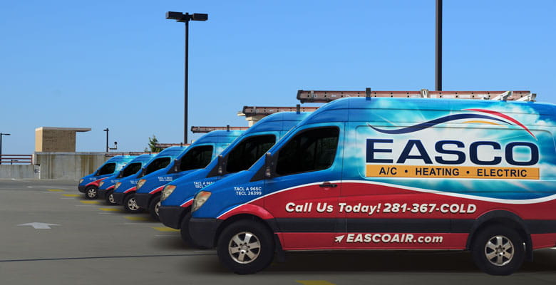 Easco Air Conditioning and Heating Trucks