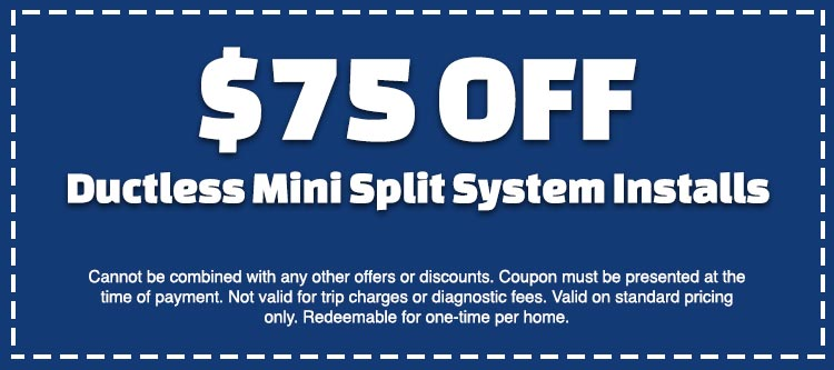 discount on ductless mini split installation