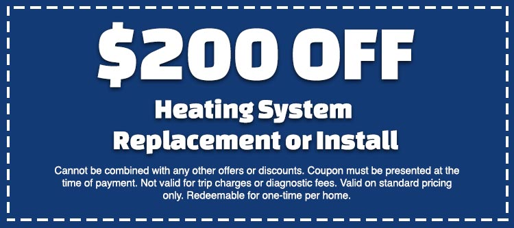 discount on heating system installation