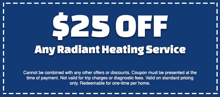 discount on radiant heating service