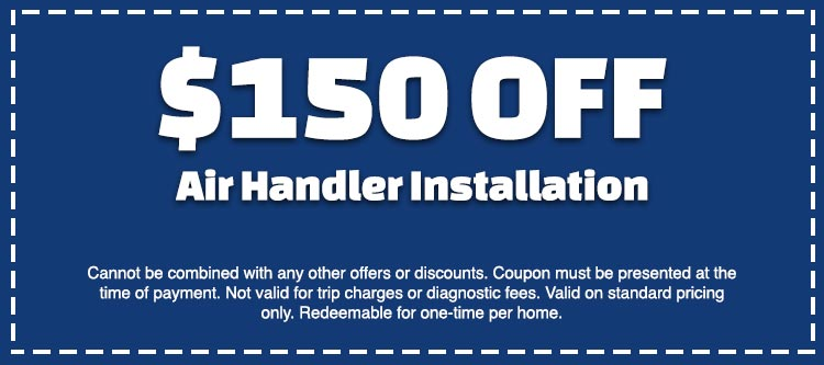 discount on air handler installation
